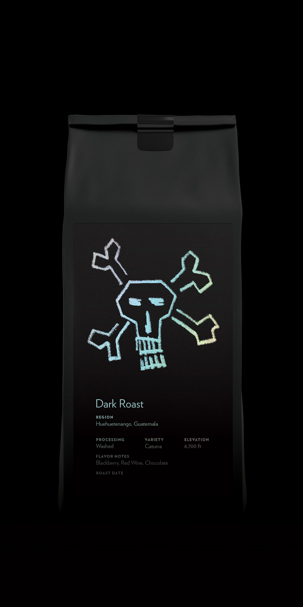 Set of black tea or coffee bags